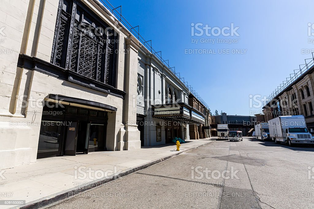 Warner Brothers Studios Buildings stock photo