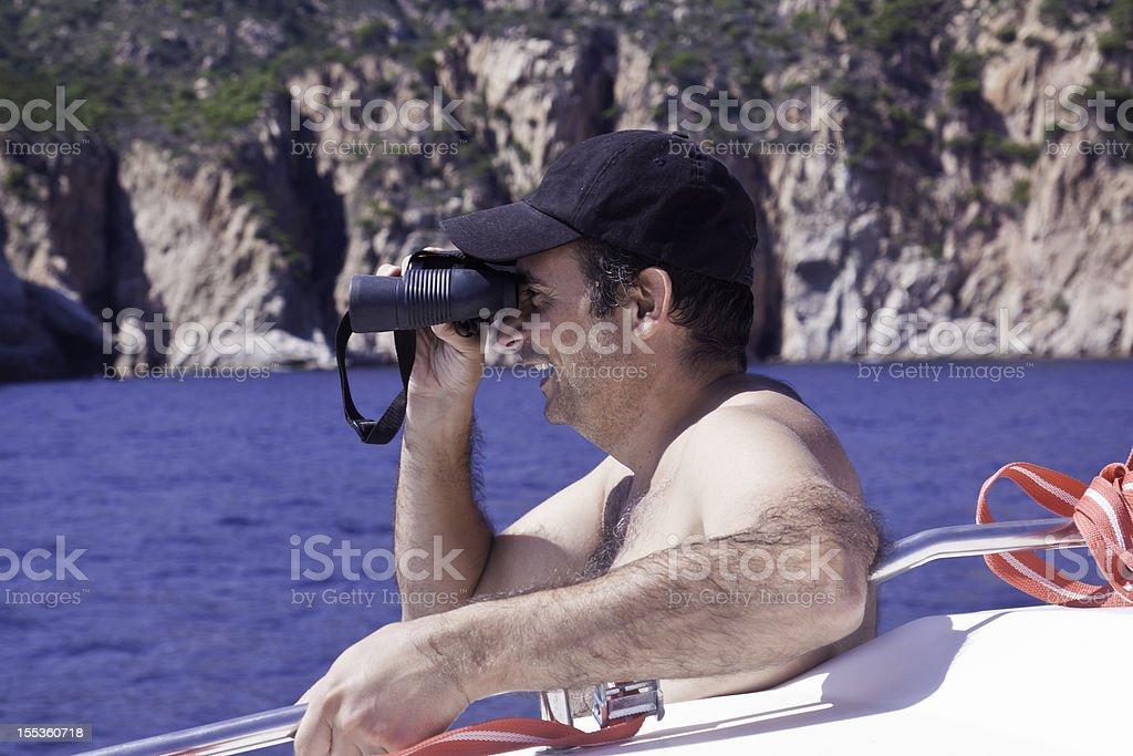 Warning at sea stock photo