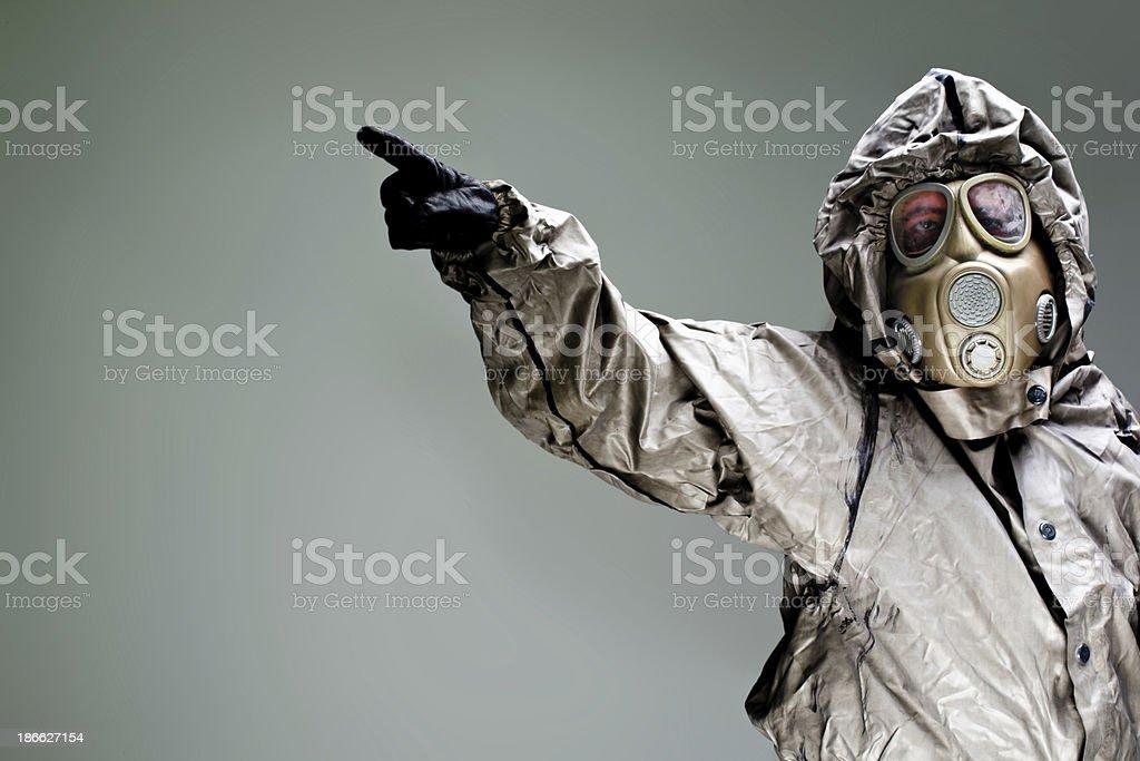 Warning Biohazard attack royalty-free stock photo