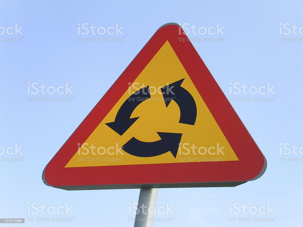 Warning – Confusion Ahead royalty-free stock photo