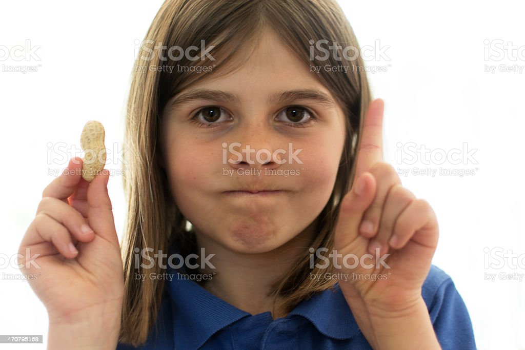 Warning contains nuts stock photo