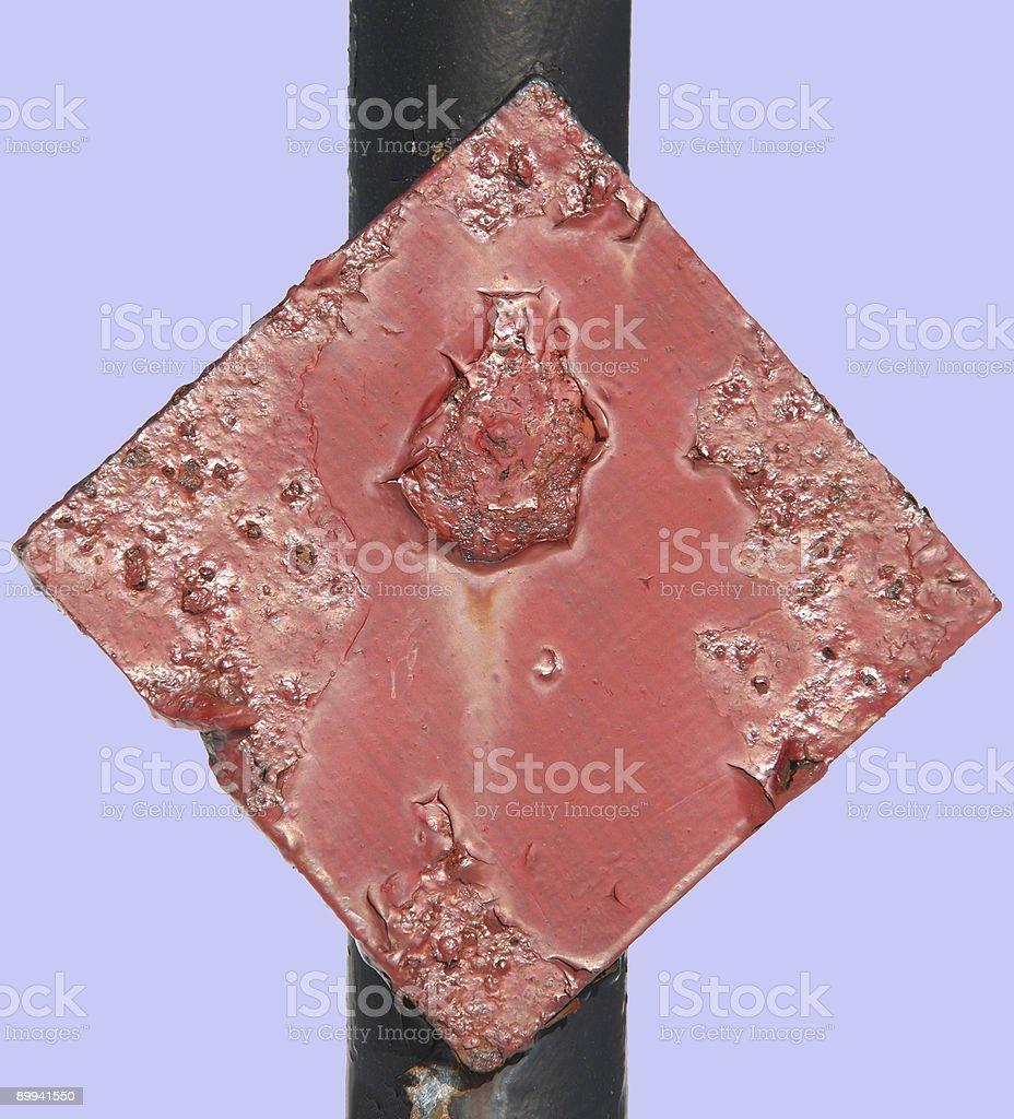 Warning diamond royalty-free stock photo
