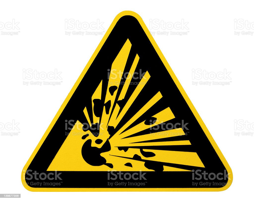 Warning! Explosive! stock photo