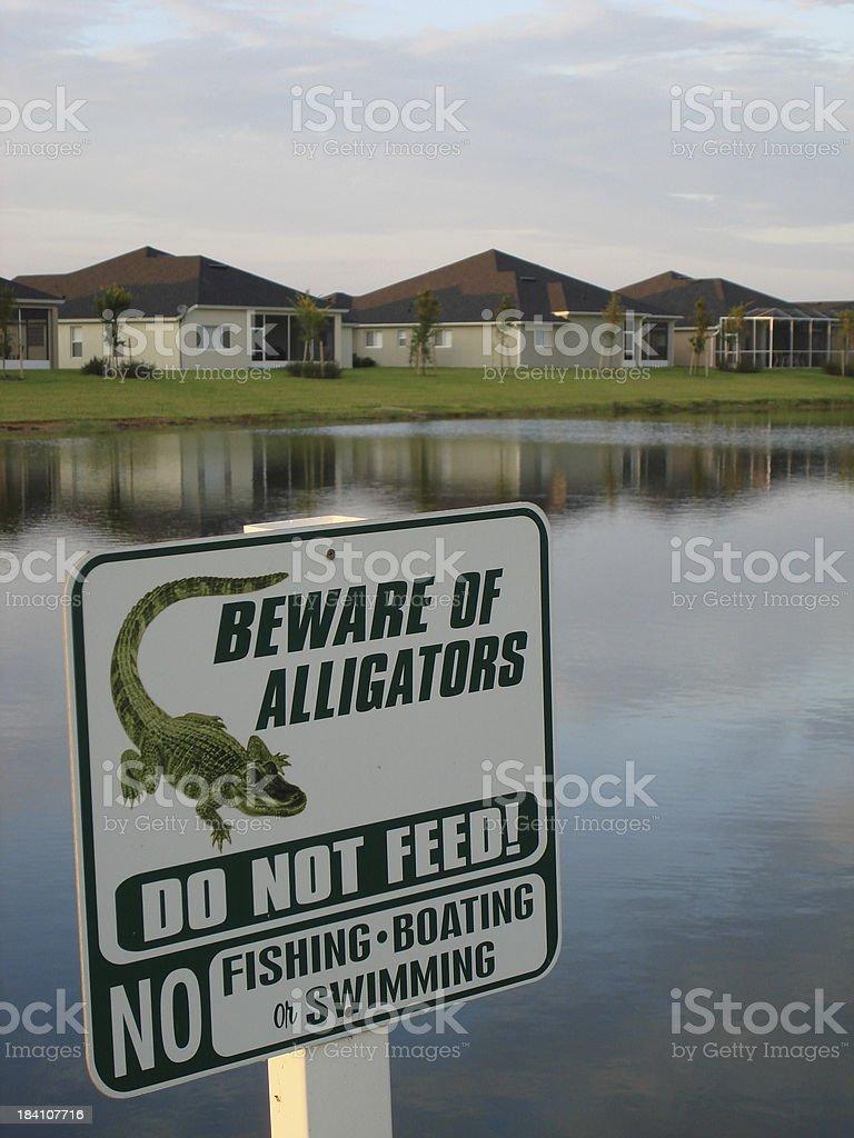 Warning - Florida Gators stock photo