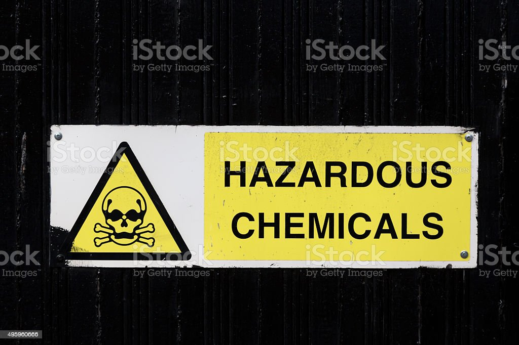 Warning for chemicals stock photo
