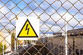 Warning high voltage symbol