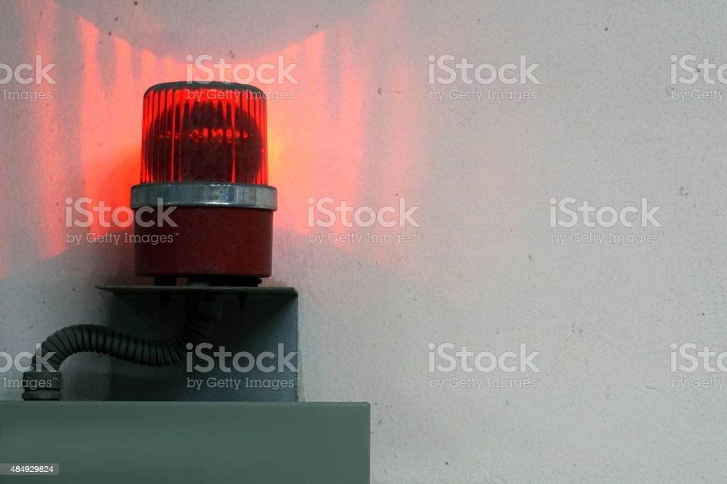 warning light stock photo