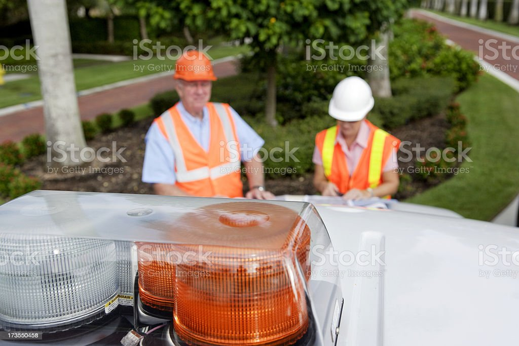 Warning Lights stock photo