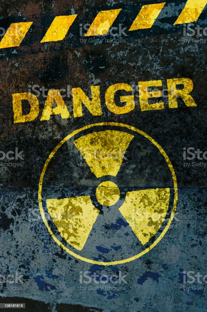 Warning: nuclear danger stock photo