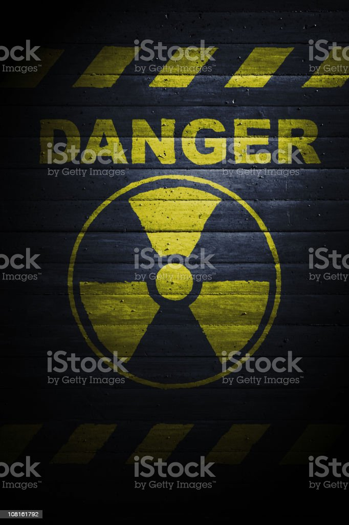 Warning: nuclear power stock photo