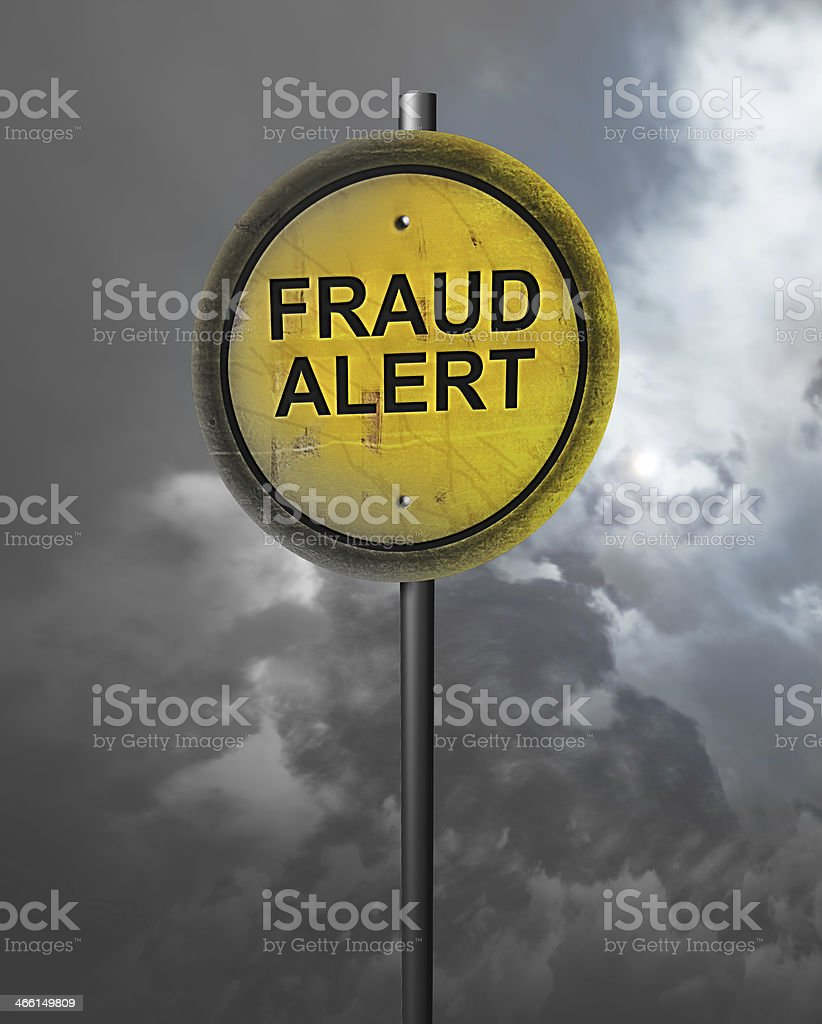 Warning of Fraud stock photo