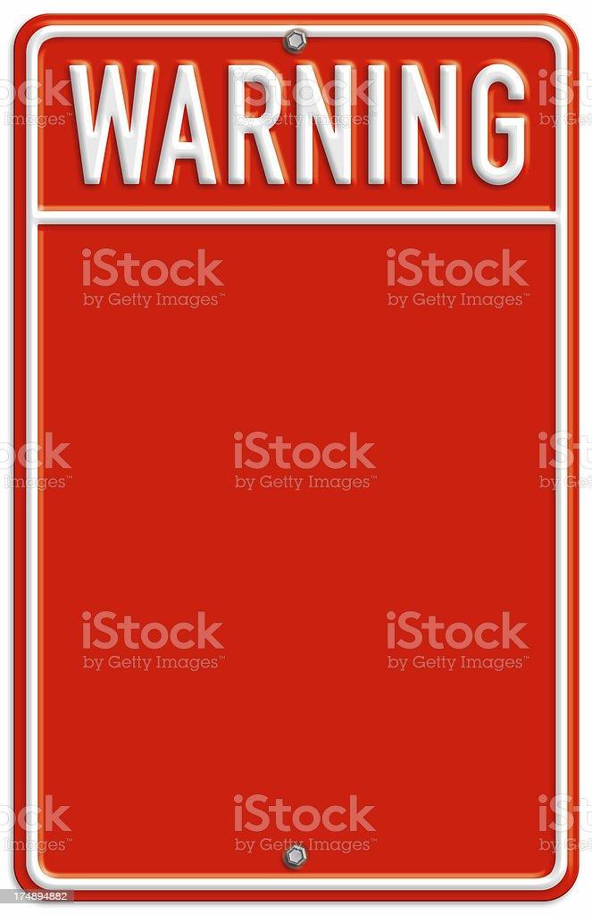 Warning! royalty-free stock photo