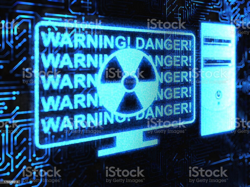 Warning! stock photo