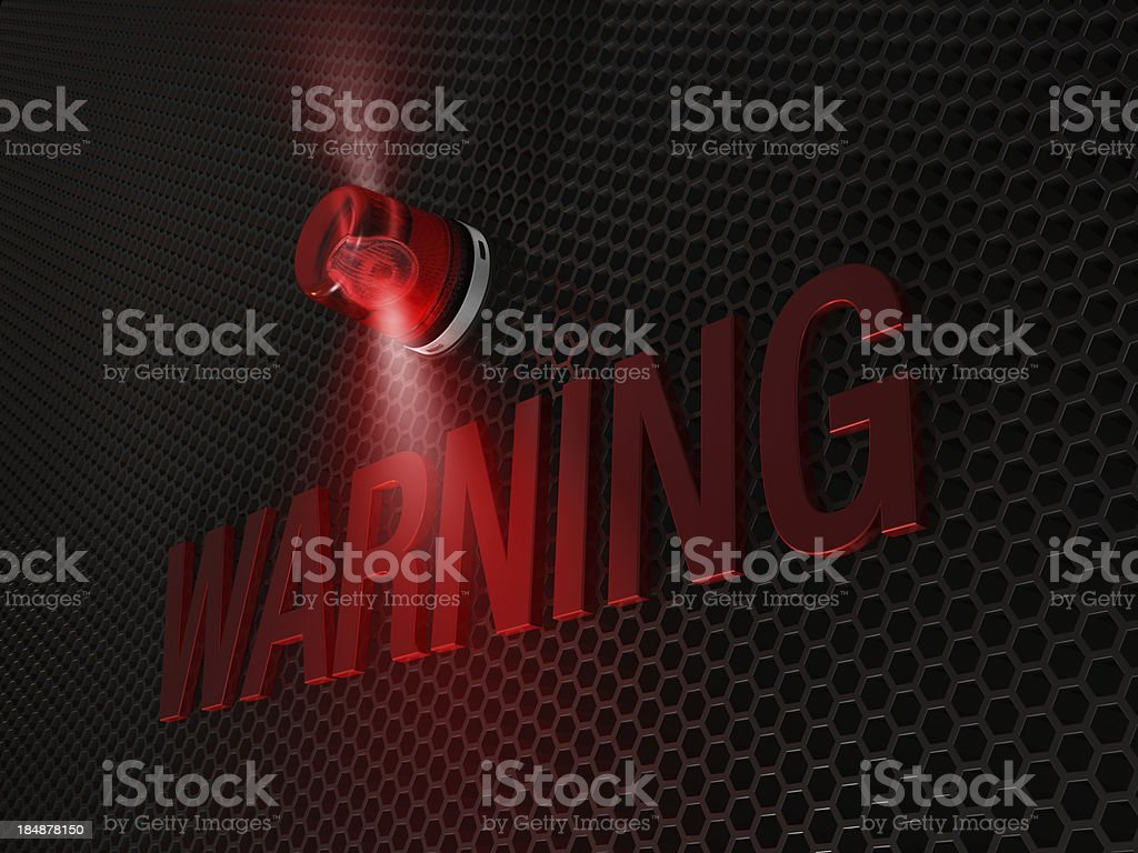 warning stock photo