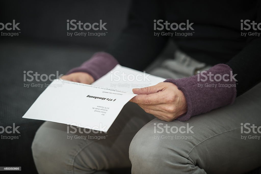 Abmahnung stock photo