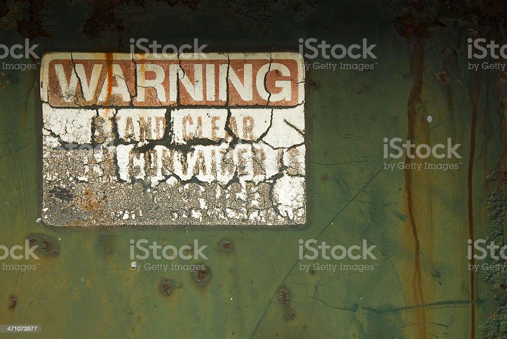 Warning! stock photo