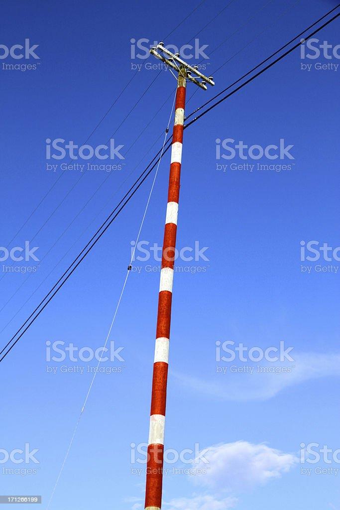 Warning Pole royalty-free stock photo