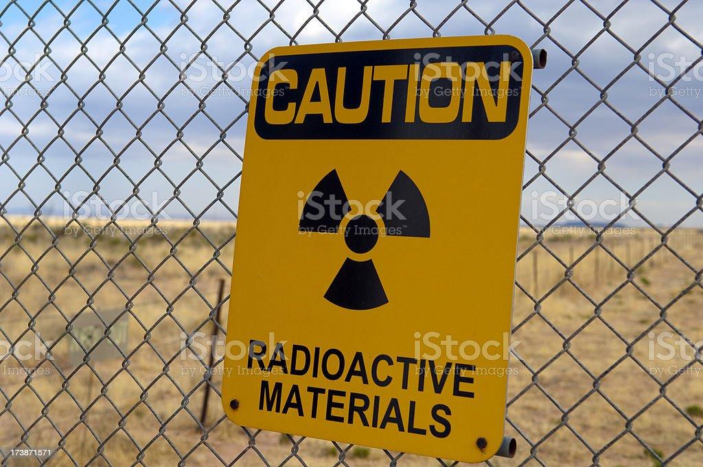 Warning Radioactive Materials! stock photo