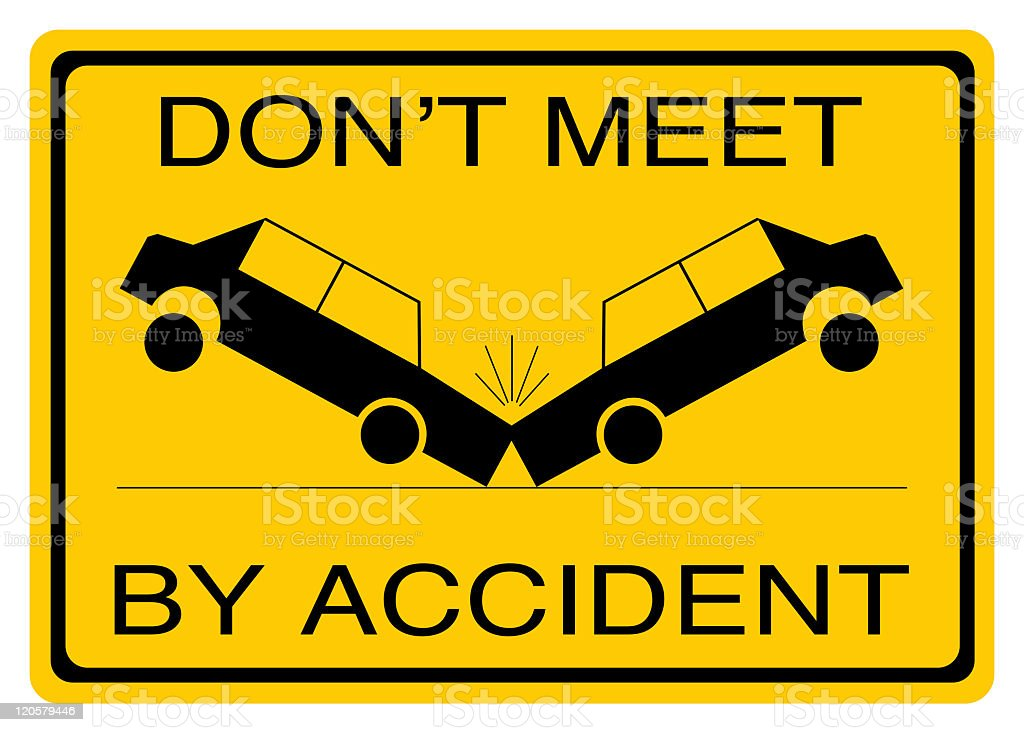 Warning road sign Don't meet by accident royalty-free stock photo