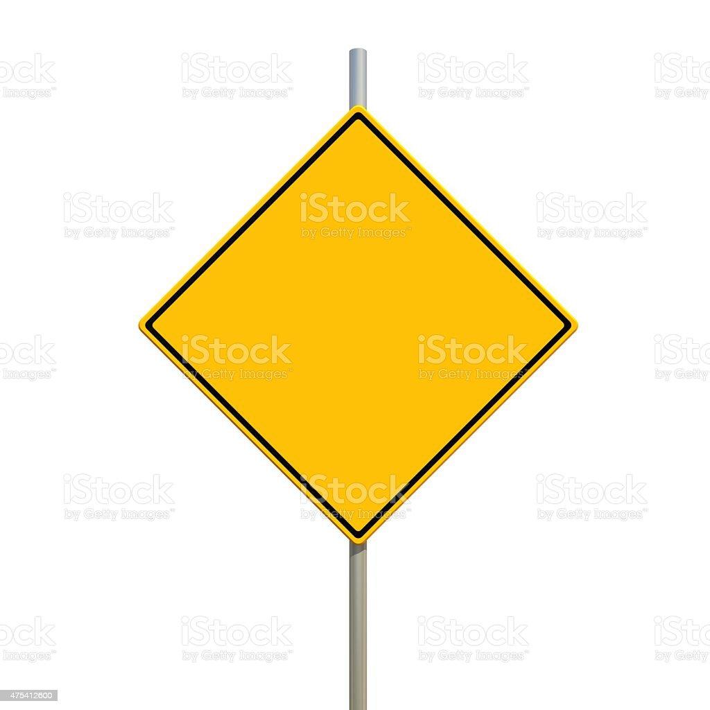 warning road sign stock photo