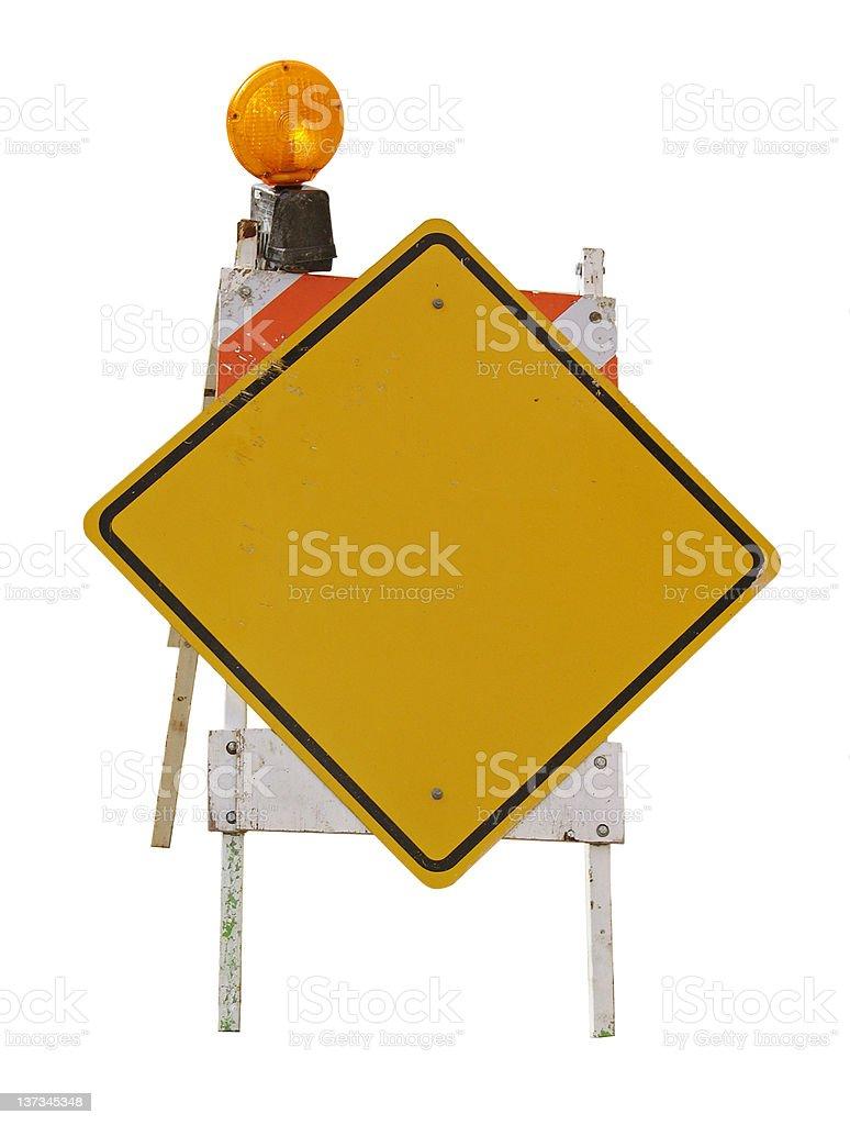 Warning Sign 02 royalty-free stock photo