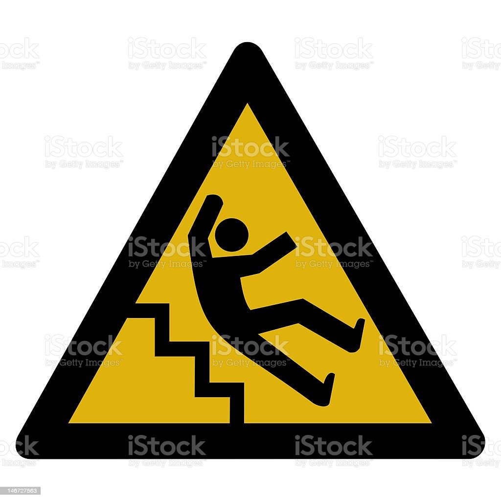 Warning sign - accident stock photo
