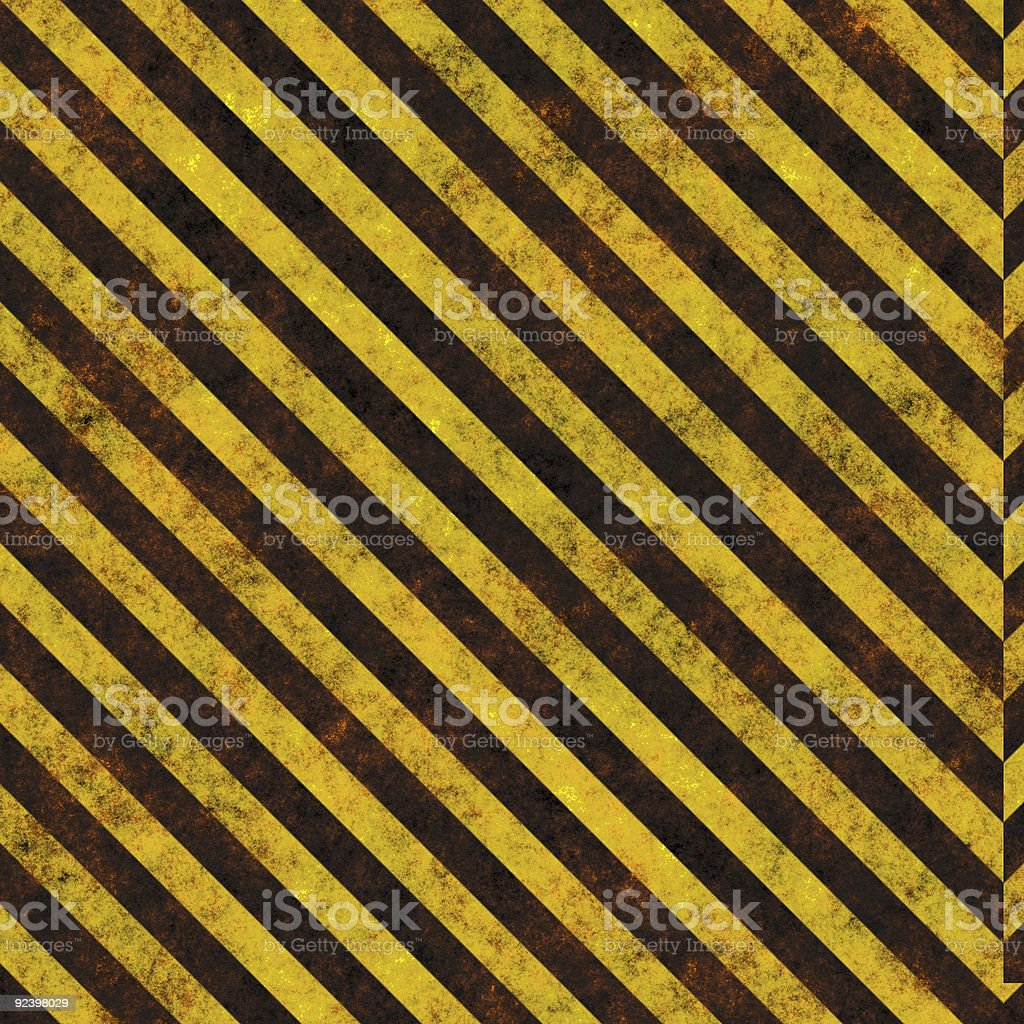 Warning sign and background stock photo