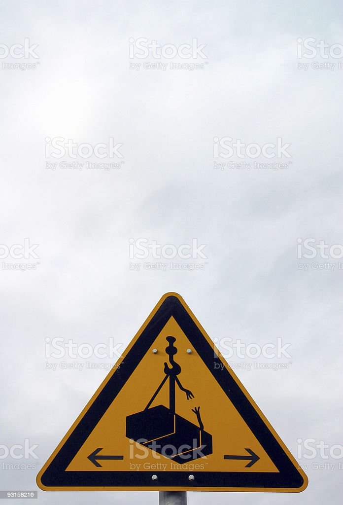 warning sign - breaking load royalty-free stock photo