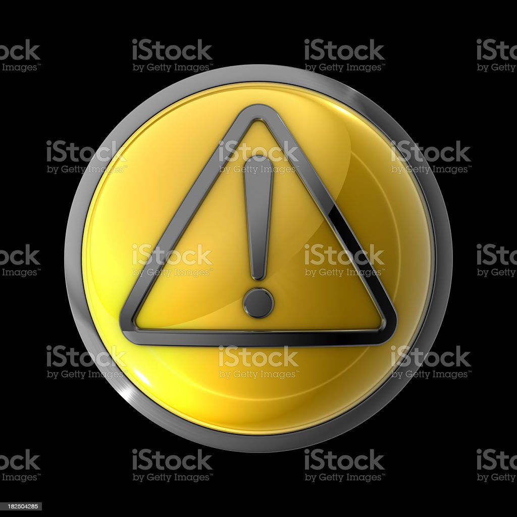 Warning Sign Button royalty-free stock photo