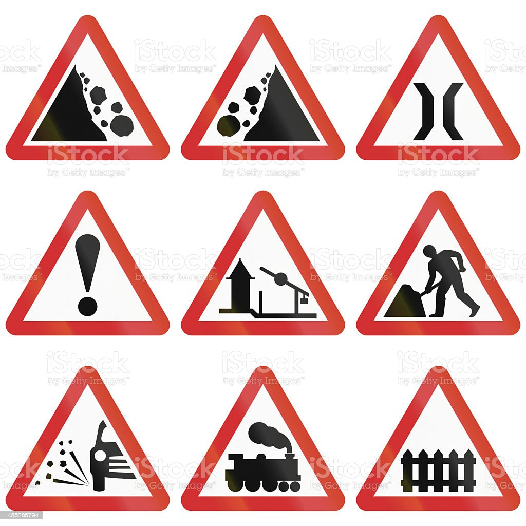Warning Sign Collection From Nepal vector art illustration