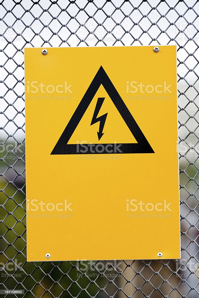 Warning sign: Electricity royalty-free stock photo