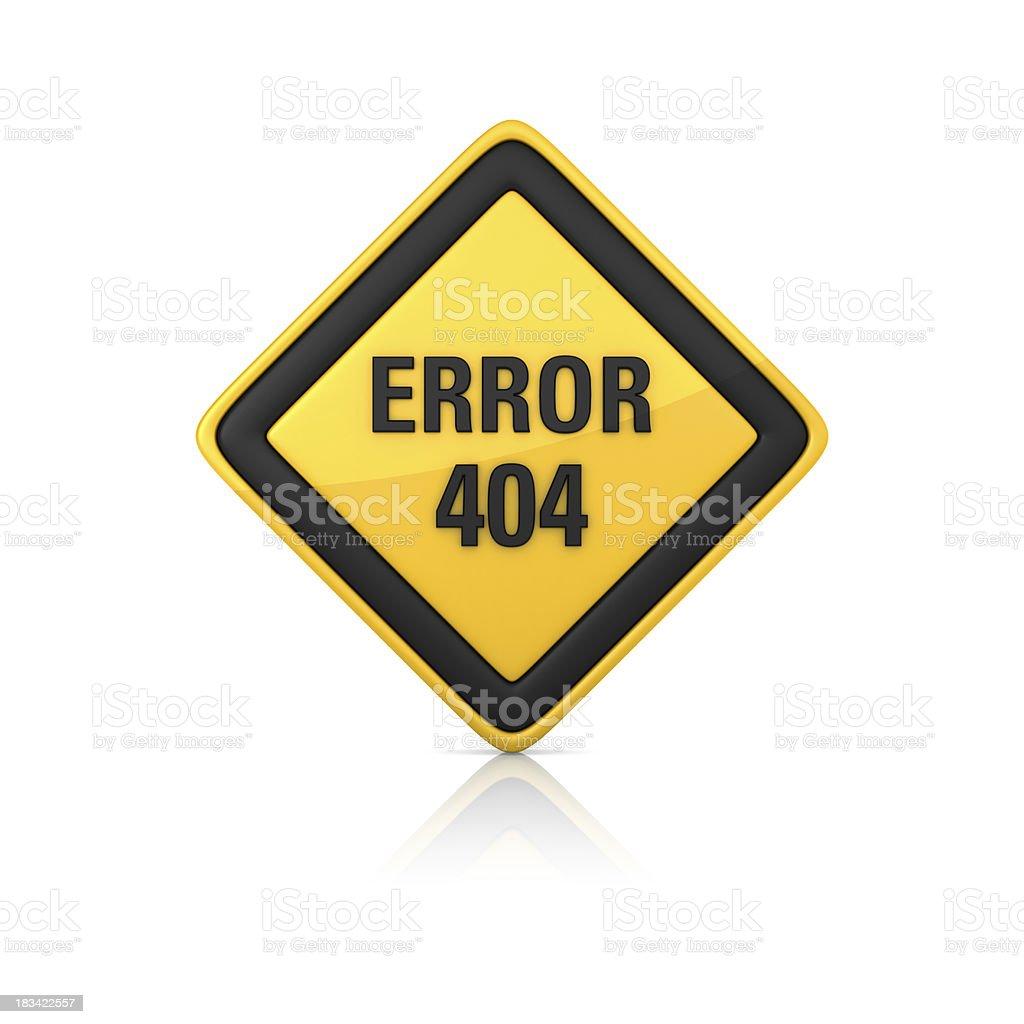 Warning Sign - ERROR 404 royalty-free stock photo