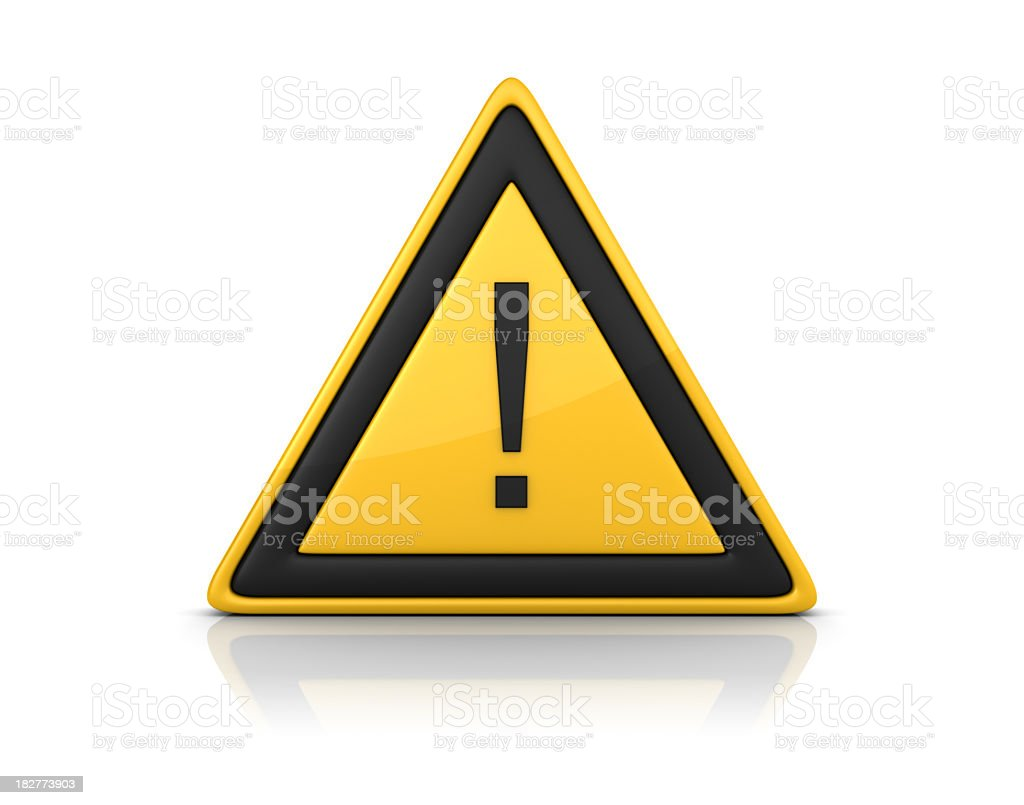 Warning Sign - EXCLAMATION POINT stock photo