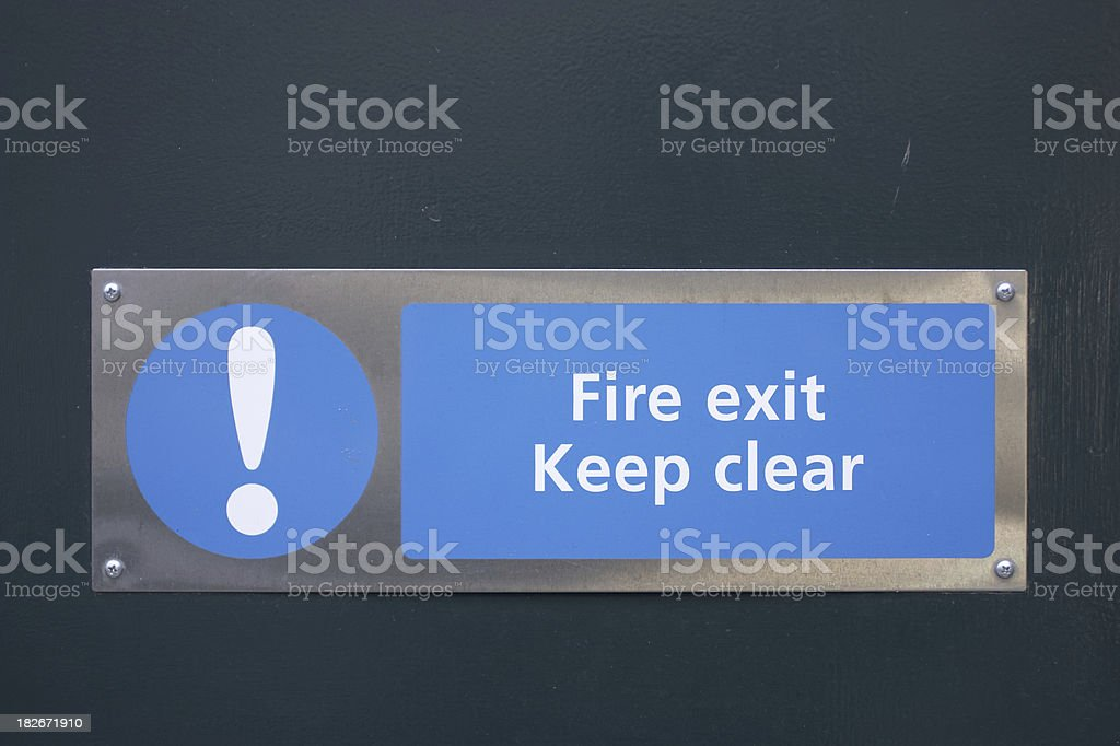 Fire exit keep clear royalty-free stock photo