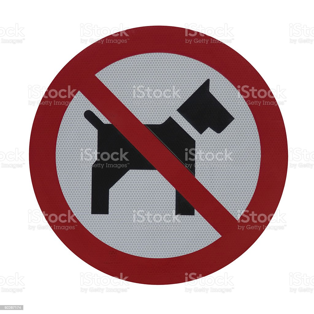 Warning sign 'No dogs allowed' royalty-free stock photo