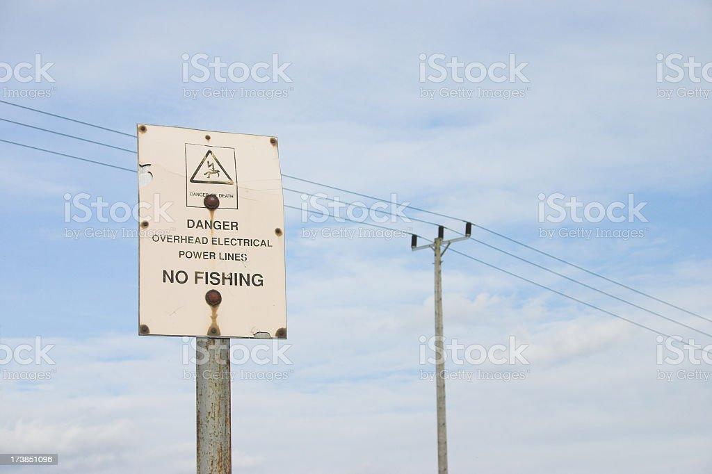 Warning Sign - No Fishing royalty-free stock photo