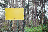 Warning Sign on a forest