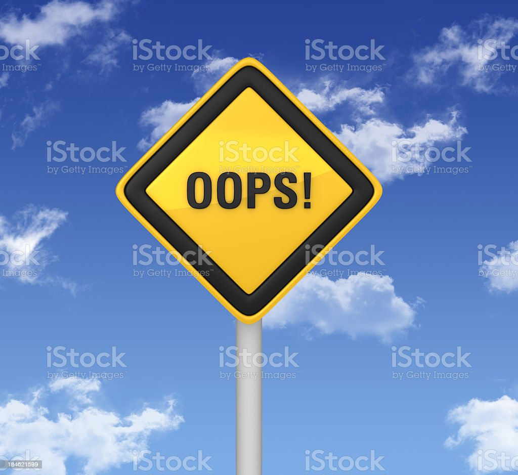 Warning Sign - OOPS! stock photo