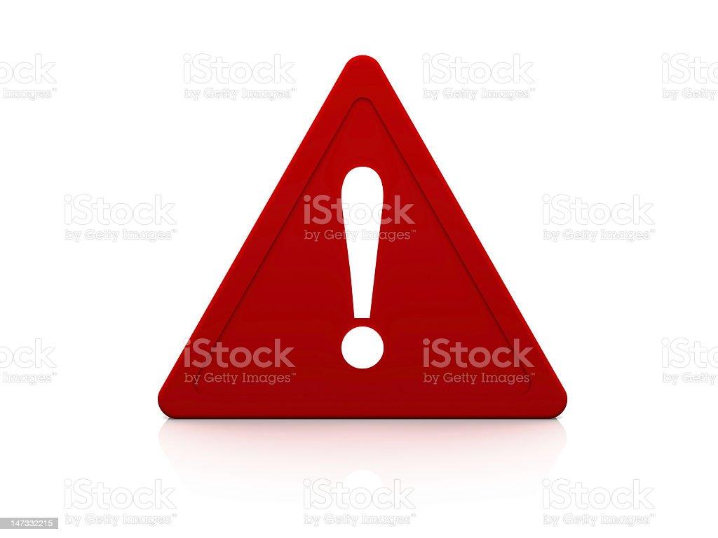 Warning Sign royalty-free stock photo
