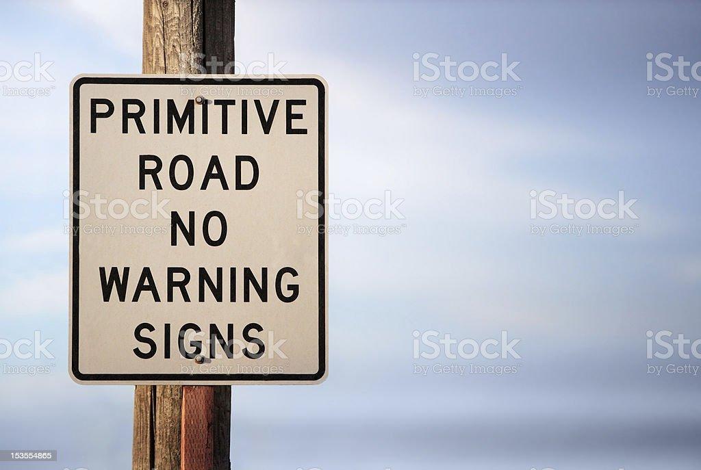 Warning sign stock photo