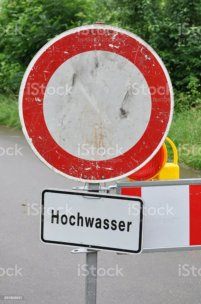 warning sign stock photo