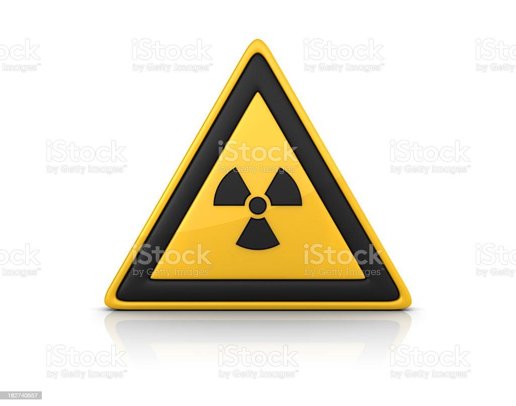 3D Warning Sign - RADIOACTIVE ALERT royalty-free stock photo