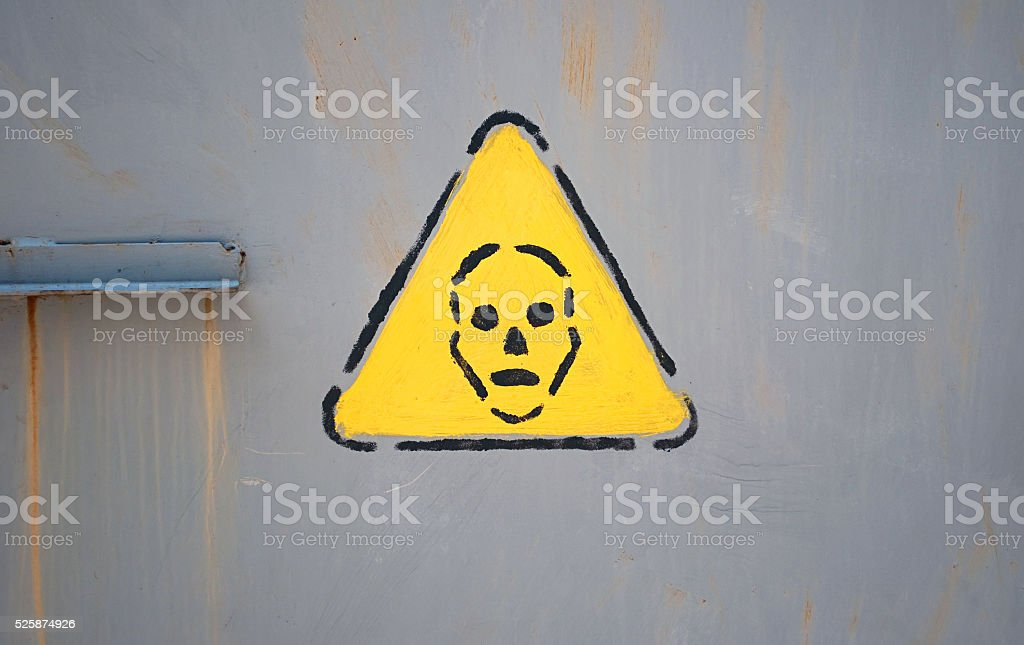 warning sign skull stock photo