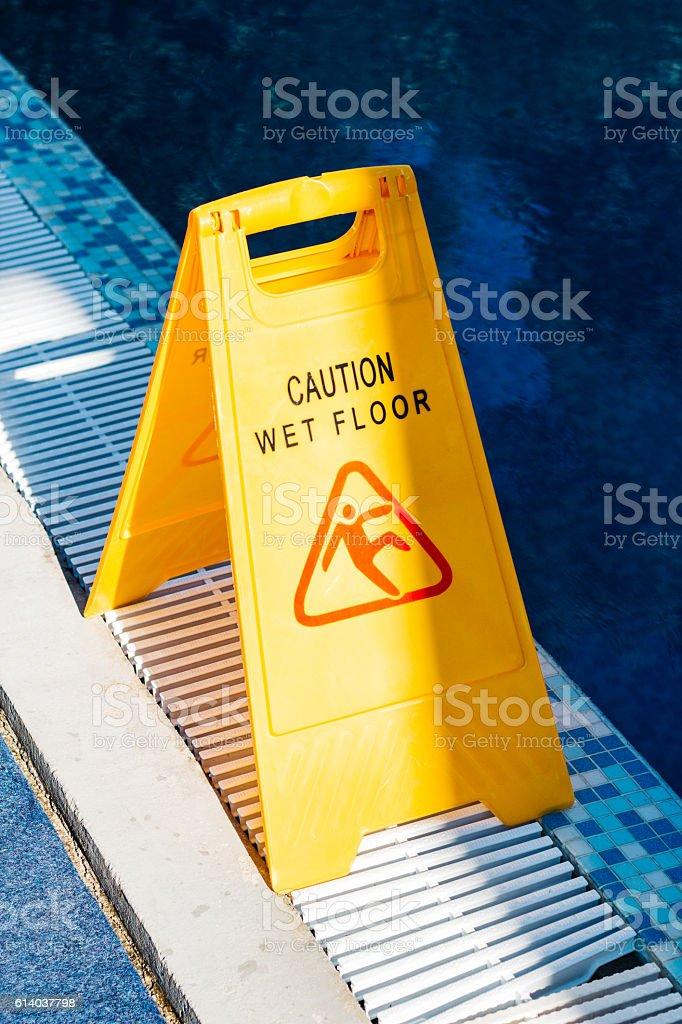 Warning sign slippery royalty-free stock photo