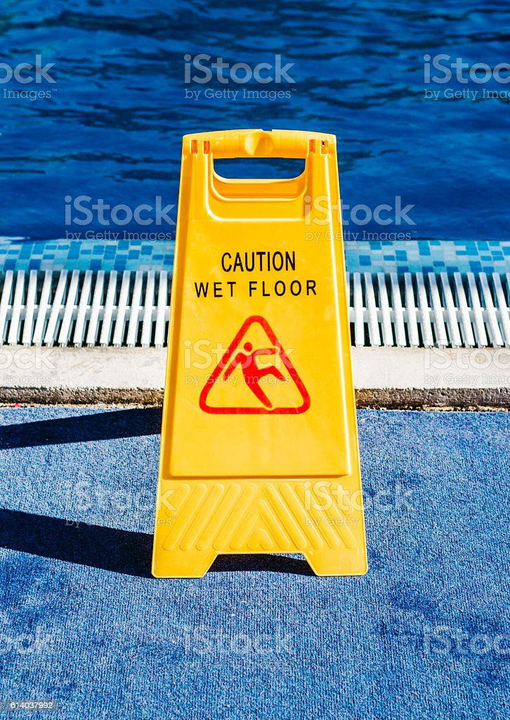 Warning sign slippery royalty-free stock photo