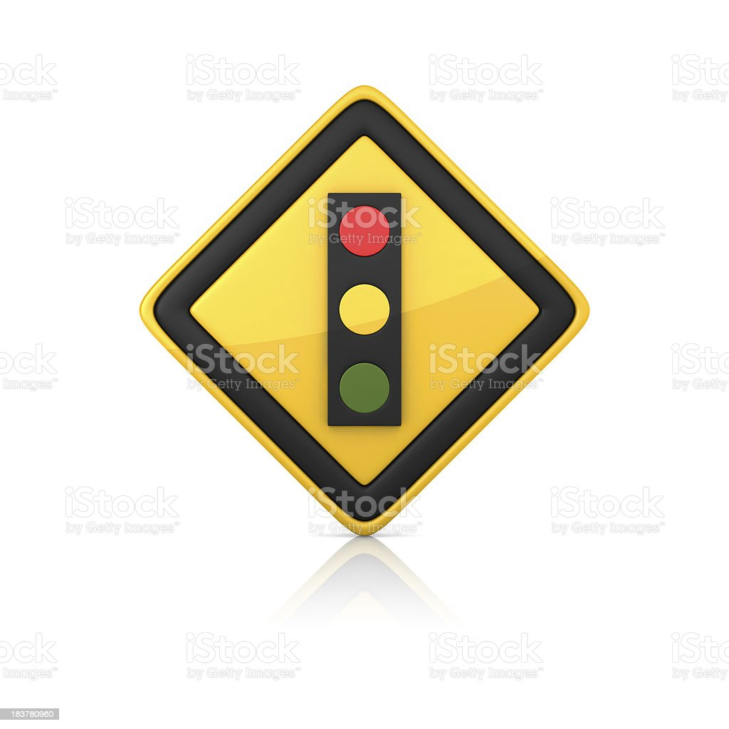 Warning Sign - TRAFFIC LIGHT royalty-free stock photo