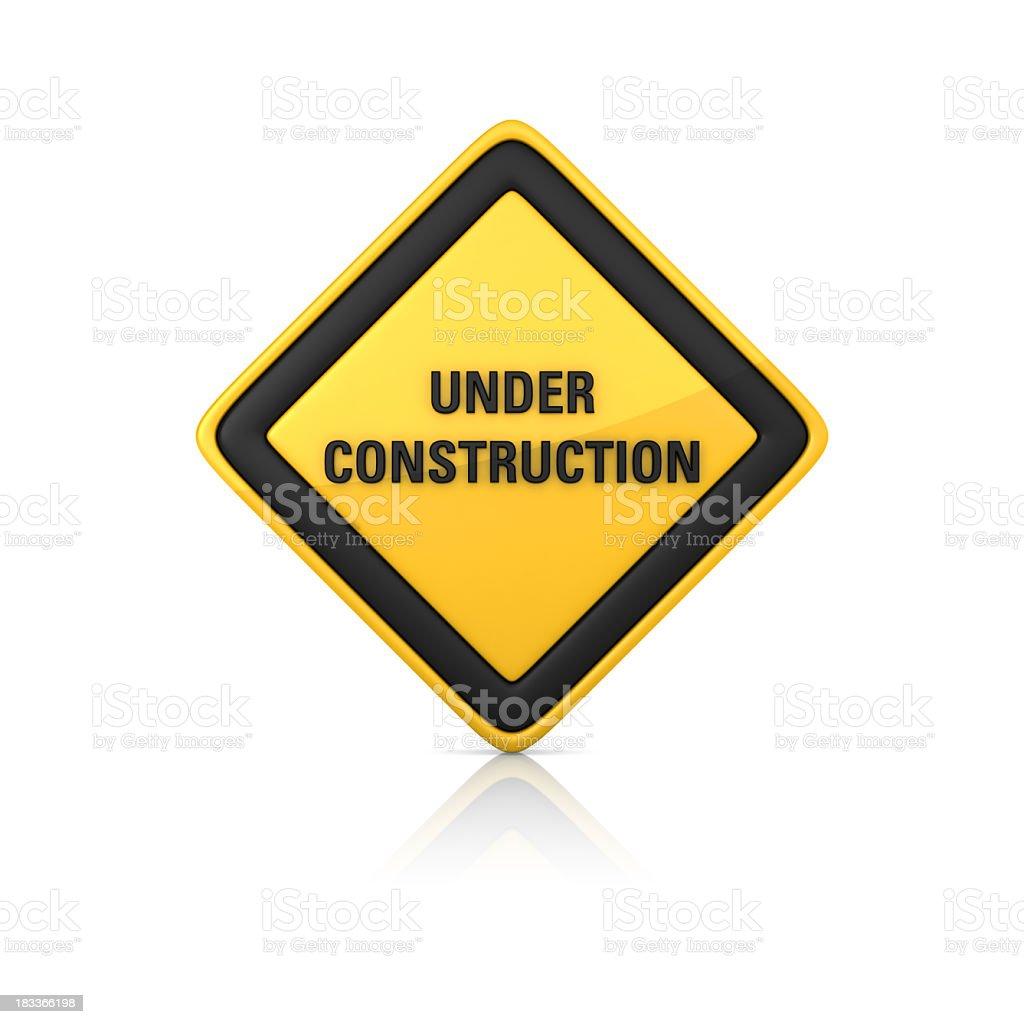 Warning Sign - Under Construction royalty-free stock photo