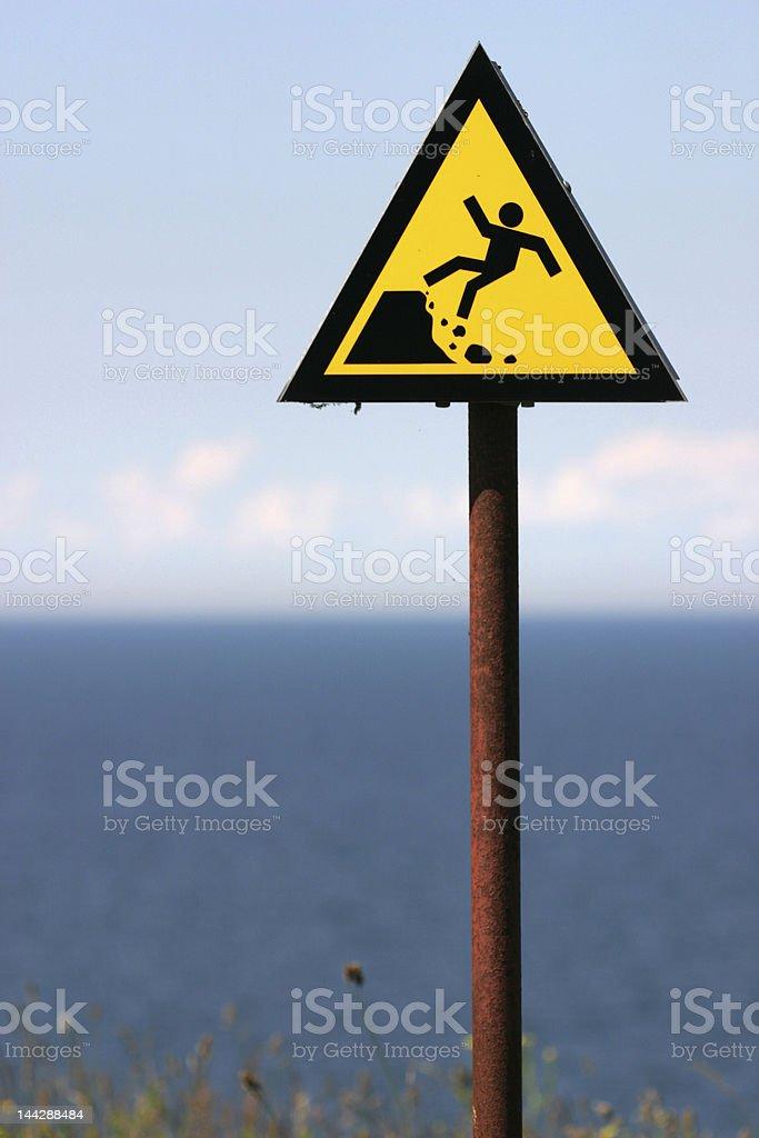 warning sign2 royalty-free stock photo