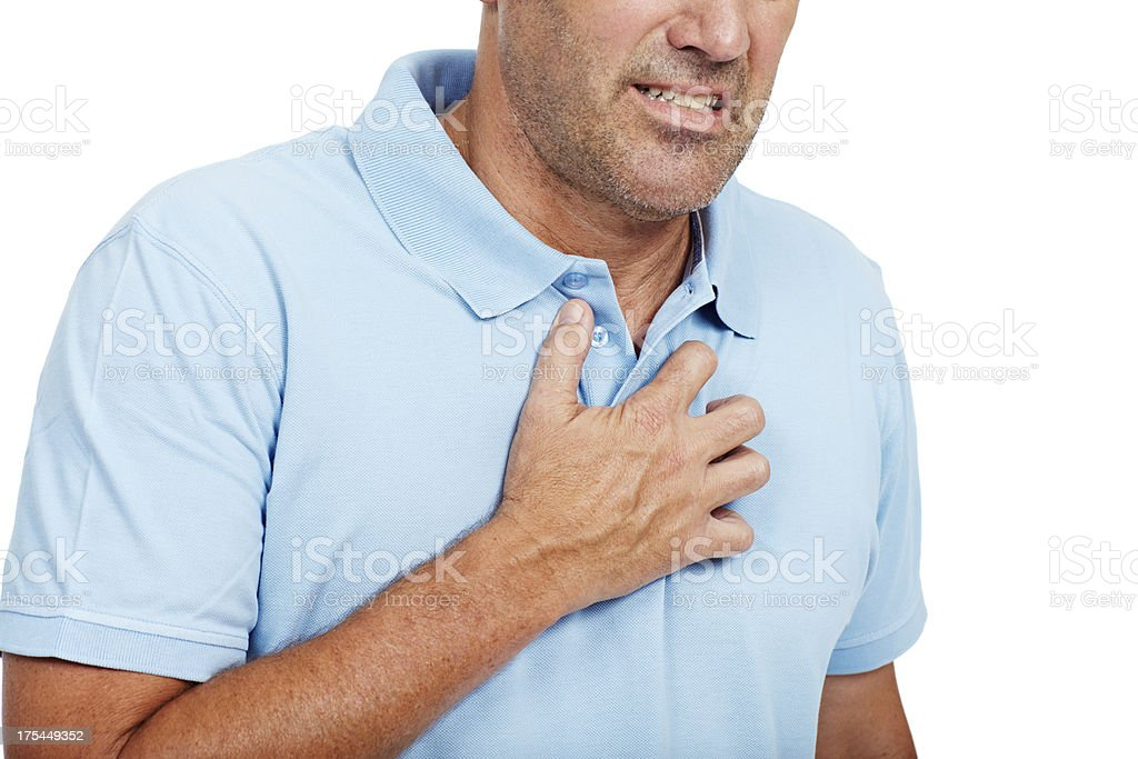 Warning signs of a heart attack stock photo