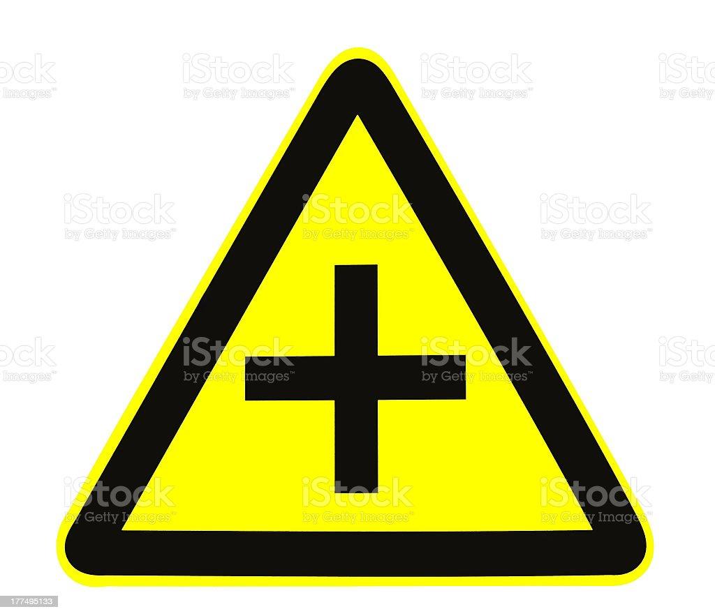 Warning signs royalty-free stock photo